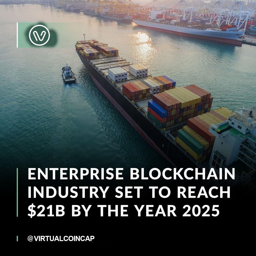 New research claims that the enterprise blockchain market will continue to rise to $21.07 billion by 2025.