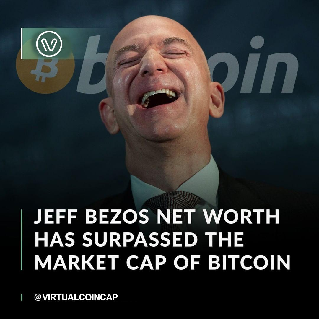 Jeff Bezos is worth more than all Bitcoin in circulation