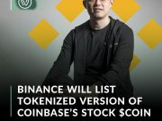 """Cryptocurrency exchange Binance announced Wednesday it will be listing Coinbase's stock token """"COIN"""" later today."""