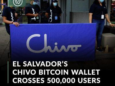 El Salvador's Chivo bitcoin wallet has already crossed 500
